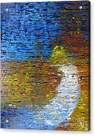 Acrylic Print featuring the painting Autumn Reflection by Jacqueline Athmann