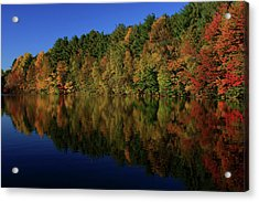 Autumn Reflection Of Colors Acrylic Print by Karol Livote