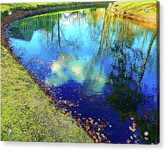 Autumn Reflection Pond Acrylic Print
