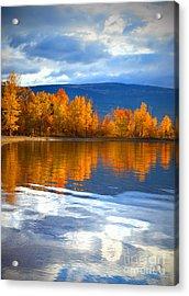 Autumn Reflections At Sunoka Acrylic Print