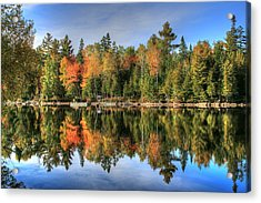 Acrylic Print featuring the photograph Autumn Reflections Of Maine by Shelley Neff