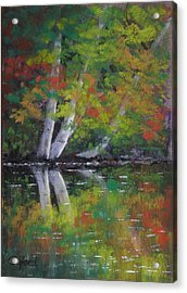 Autumn Reflections Acrylic Print by Paula Ann Ford