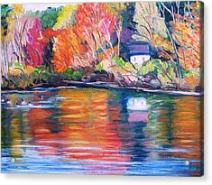 Autumn Reflections Acrylic Print by Richard Nowak