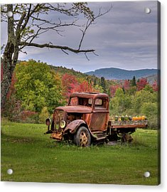 Autumn Relic Square Acrylic Print by Bill Wakeley