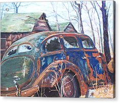 Autumn Retreat - Old Friend Vi Acrylic Print by Alicia Drakiotes