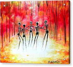 Autumn Ring Acrylic Print by Heather Calderon