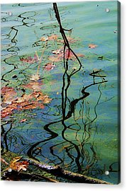 Autumn Ripples 9 Acrylic Print