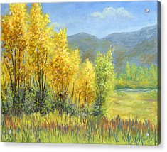 Autumn River Valley Acrylic Print