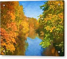 Autumn Riverlight Acrylic Print