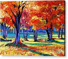 Autumn Row Acrylic Print by David Lloyd Glover