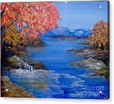 Acrylic Print featuring the painting Autumn by Saundra Johnson