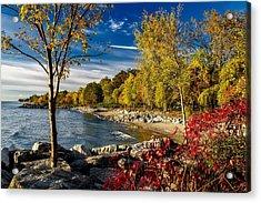 Autumn Scene Lake Ontario Canada Acrylic Print
