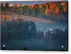 Autumn Scenic - West Rupert Vermont Acrylic Print by Thomas Schoeller