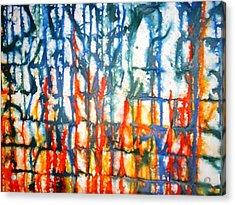 Autumn Sea Acrylic Print by Baljit Chadha
