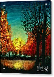 Autumn Silhouette  Acrylic Print