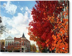 Autumn Splendor Along The Downtown Fayetteville Arkansas Skyline  Acrylic Print