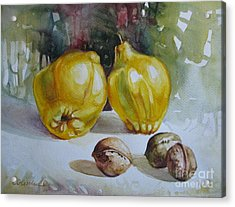 Acrylic Print featuring the painting Autumn Still Life 2 by Elena Oleniuc