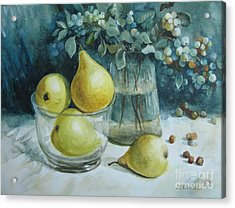 Acrylic Print featuring the painting Autumn Still Life 3 by Elena Oleniuc