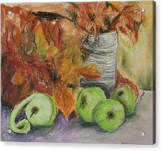 Acrylic Print featuring the painting Autumn Still Life by Marilyn Barton