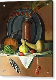 Acrylic Print featuring the painting Autumn Still Life by Nancy Griswold