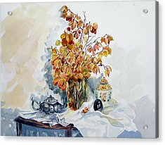 Acrylic Print featuring the painting Autumn Still Life by Pat Crowther