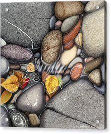 Autumn Stones Acrylic Print by JQ Licensing