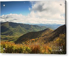 Autumn Storm Clouds Blue Ridge Parkway Acrylic Print