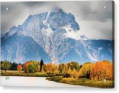Autumn Storm Over Mount Moran Acrylic Print
