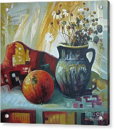 Acrylic Print featuring the painting Autumn Story by Elena Oleniuc