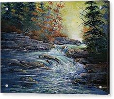 Autumn Stream Acrylic Print by Brooke Lyman