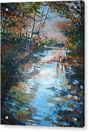 Autumn Stream Acrylic Print by Joyce Kanyuk