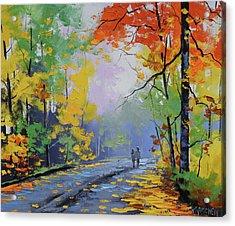 Autumn Stroll Acrylic Print