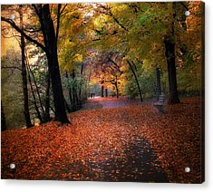 Autumn Stroll Acrylic Print by Jessica Jenney