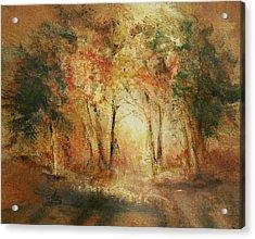 Autumn Sun Acrylic Print by Aneta  Berghane