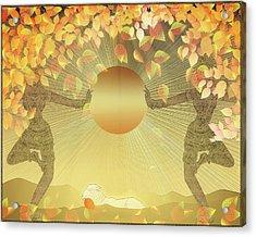 Autumn Sun Acrylic Print by Harald Dastis