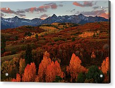 Acrylic Print featuring the photograph Autumn Sunrise At Dallas Divide In Colorado by Jetson Nguyen