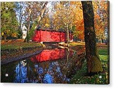 Autumn Sunrise Bridge II Acrylic Print