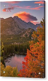 Autumn Sunrise Over Longs Peak Acrylic Print by Darren White