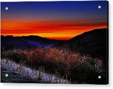 Autumn Sunrise Acrylic Print by William Carroll