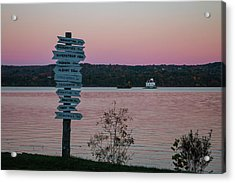 Autumn Sunset At Esopus Meadows Acrylic Print