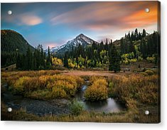 Autumn Sunset In Big Cottonwood Canyon Acrylic Print