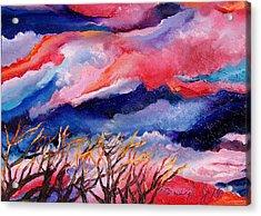 Autumn Sunset In The Sky Acrylic Print