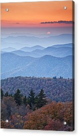 Autumn Sunset On The Parkway Acrylic Print by Rob Travis
