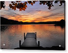 Autumn Sunset Acrylic Print by Thomas Schoeller