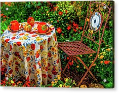 Autumn Table Setting Acrylic Print
