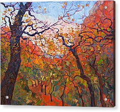 Autumn Tapestries Acrylic Print by Erin Hanson
