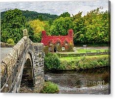 Autumn Tea House Acrylic Print by Adrian Evans