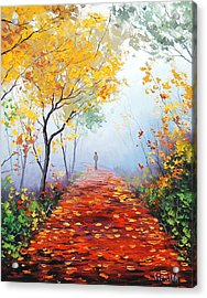 Autumn Trail Acrylic Print by Graham Gercken