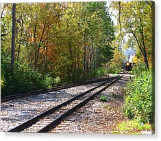 Autumn Train Acrylic Print