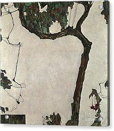 Autumn Tree Acrylic Print by Egon Schiele
